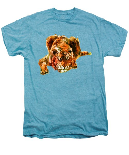 Lurking Tiger Men's Premium T-Shirt by Marian Voicu