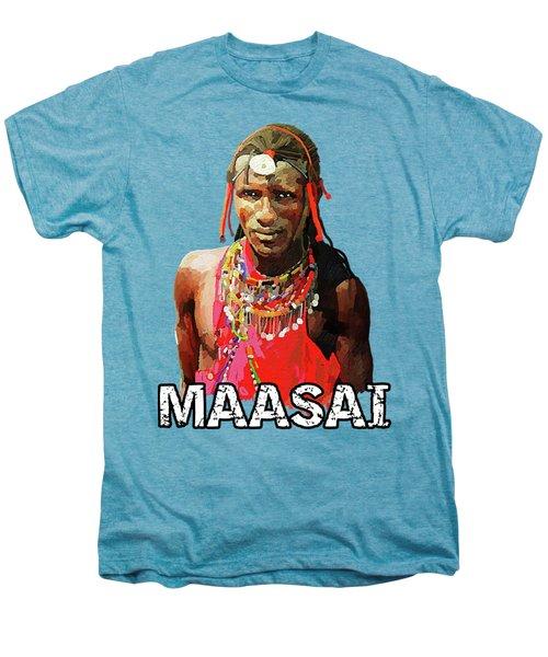 Maasai Moran Men's Premium T-Shirt