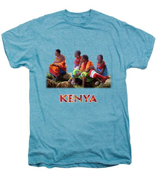 Maasai Women Men's Premium T-Shirt by Anthony Mwangi