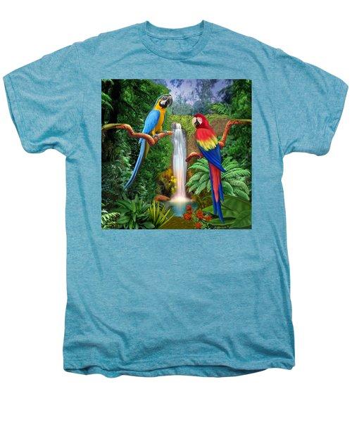 Macaw Tropical Parrots Men's Premium T-Shirt