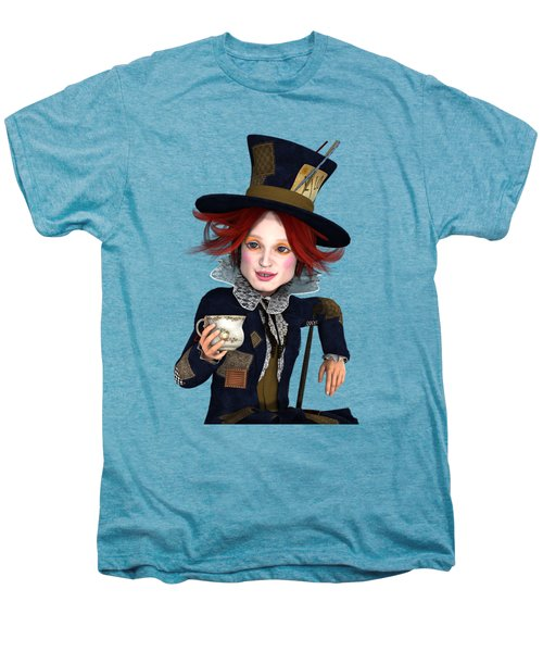 Mad Hatter Portrait Men's Premium T-Shirt by Methune Hively
