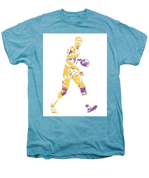 Magic Johnson Los Angeles Lakers Pixel Art 5 Men's Premium T-Shirt
