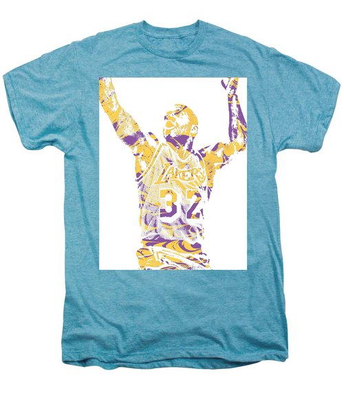 Magic Johnson Los Angeles Lakers Pixel Art 7 Men's Premium T-Shirt