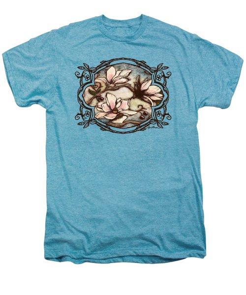 Magnolia Branch II Men's Premium T-Shirt by April Moen