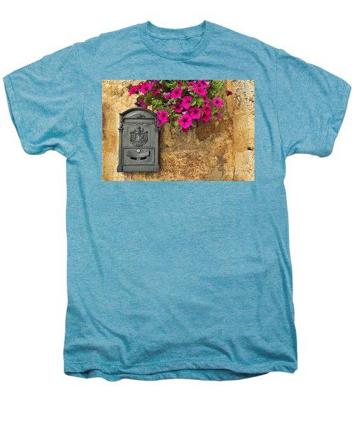 Mailbox With Petunias Men's Premium T-Shirt