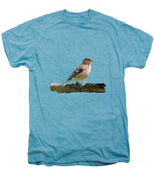 Male Chaffinch, Transparent Background Men's Premium T-Shirt by Paul Gulliver