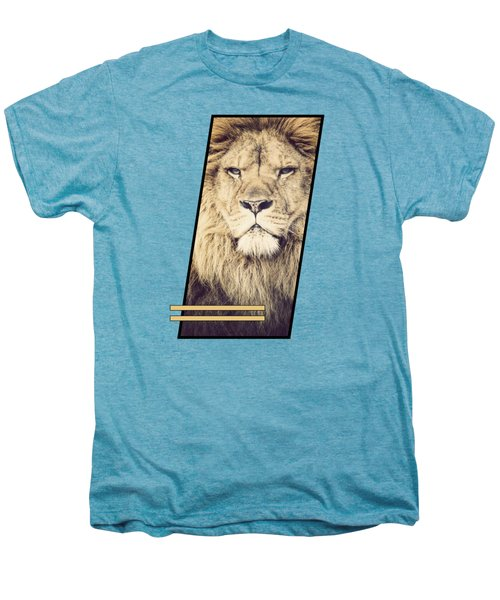 Male Lion Men's Premium T-Shirt by Sven Horn