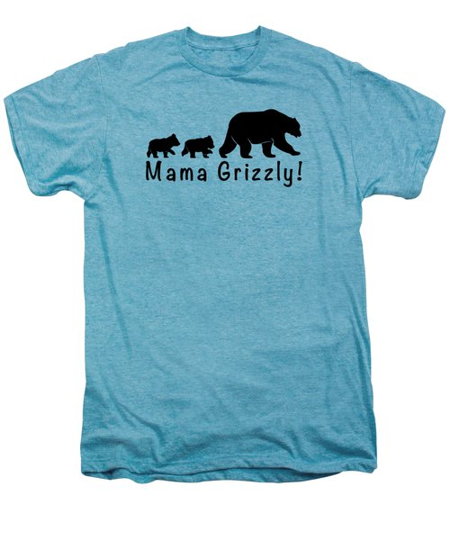 Mama Grizzly And Cubs Men's Premium T-Shirt by A C
