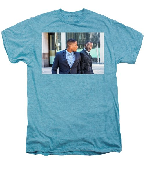 Man Looking At Mirror Men's Premium T-Shirt