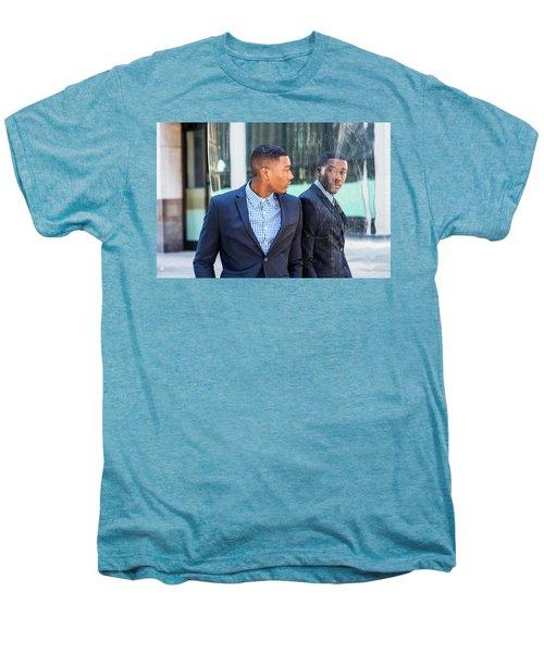 Man Looking At Mirror Men's Premium T-Shirt