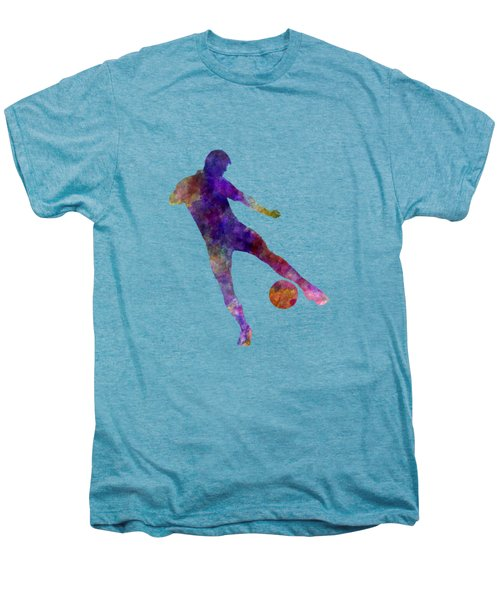 Man Soccer Football Player 02 Men's Premium T-Shirt by Pablo Romero