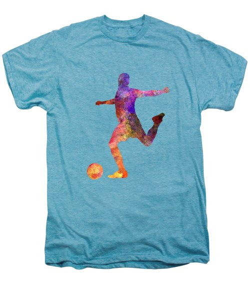Man Soccer Football Player 03 Men's Premium T-Shirt by Pablo Romero