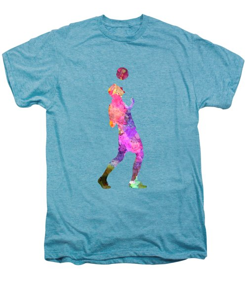 Man Soccer Football Player 06 Men's Premium T-Shirt by Pablo Romero