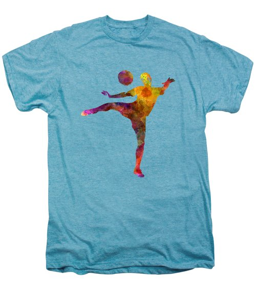 Man Soccer Football Player 07 Men's Premium T-Shirt by Pablo Romero