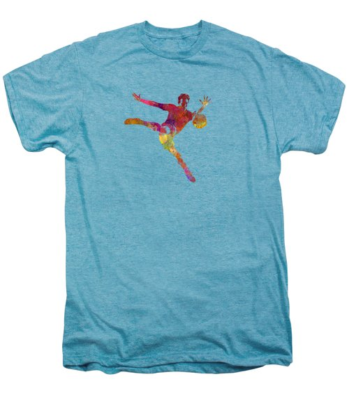 Man Soccer Football Player 08 Men's Premium T-Shirt by Pablo Romero