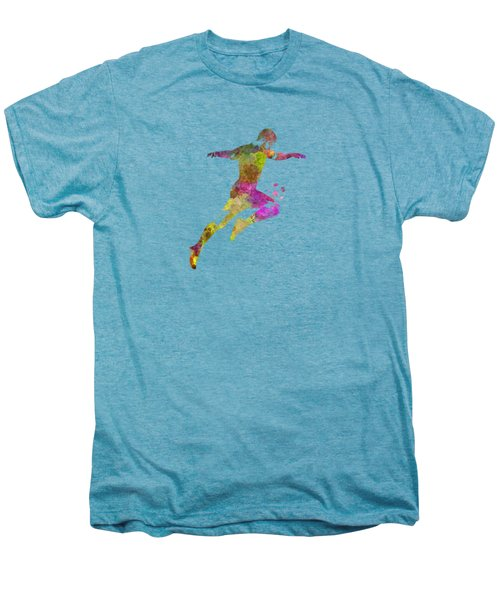 Man Soccer Football Player 12 Men's Premium T-Shirt by Pablo Romero