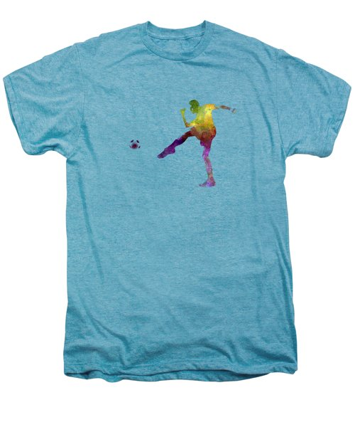 Man Soccer Football Player 15 Men's Premium T-Shirt by Pablo Romero