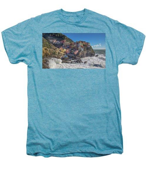 Manarola In Cinque Terre  Men's Premium T-Shirt
