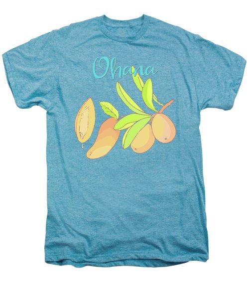 Mango Ohana Tropical Hawaiian Design Of Fruit And Family Men's Premium T-Shirt