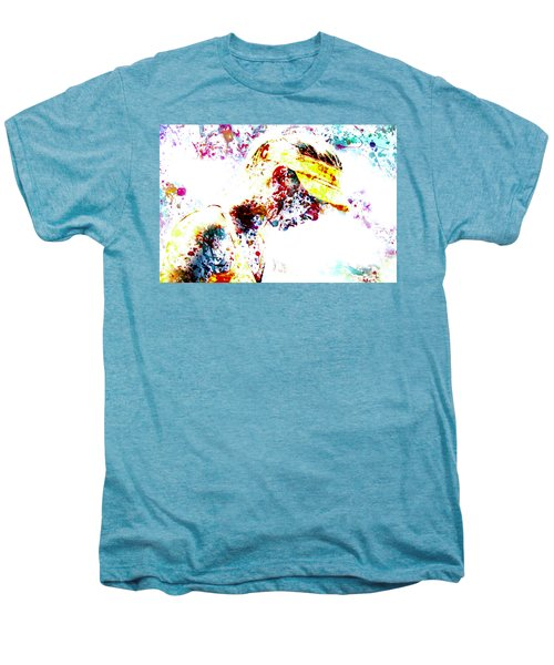 Maria Sharapova Paint Splatter 4p                 Men's Premium T-Shirt by Brian Reaves