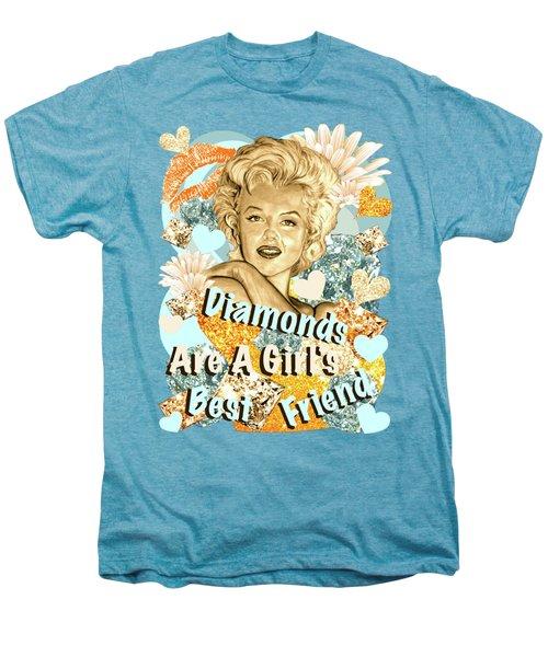 Marilyn Diamonds Are A Girls Best Friend Men's Premium T-Shirt by Gitta Glaeser