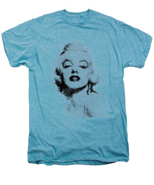 Marilyn Monroe Portrait 02 Men's Premium T-Shirt by Pablo Romero