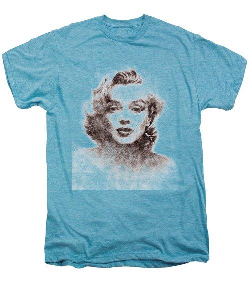Marilyn Monroe Portrait 04 Men's Premium T-Shirt by Pablo Romero