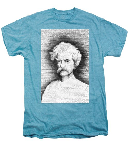 Mark Twain In His Own Words Men's Premium T-Shirt by Phil Vance