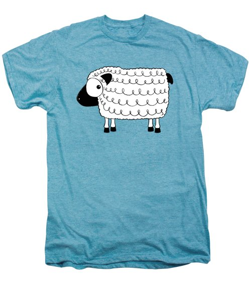 Marshmallow The Sheep Men's Premium T-Shirt by Lucia Stewart