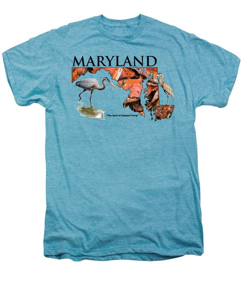 Maryland - The Land Of Pleasant Living Men's Premium T-Shirt