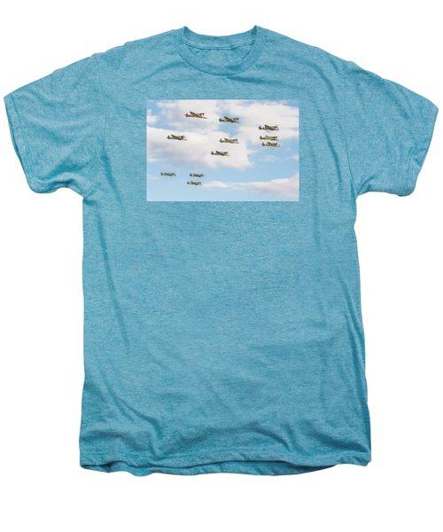 Massed Spitfires Men's Premium T-Shirt by Gary Eason