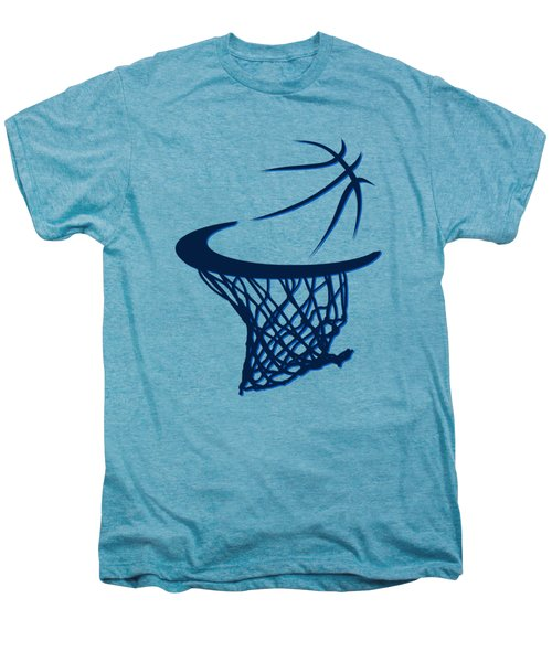 Mavericks Basketball Hoops Men's Premium T-Shirt by Joe Hamilton