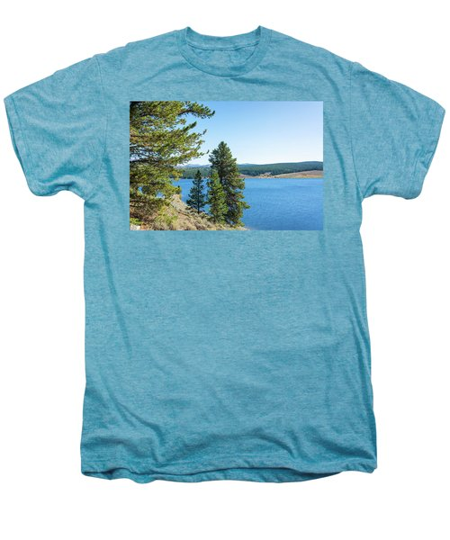 Meadowlark Lake And Trees Men's Premium T-Shirt by Jess Kraft