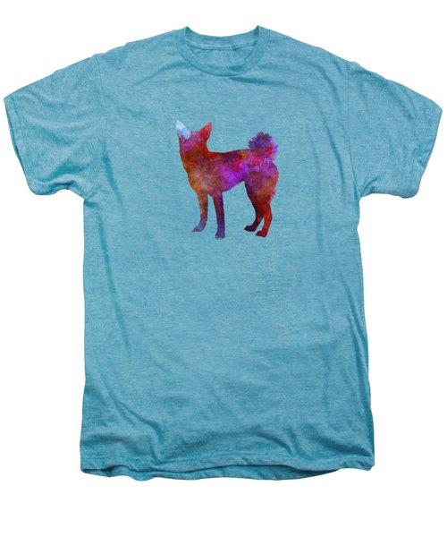 Medium Griffon Vendeen In Watercolor Men's Premium T-Shirt by Pablo Romero