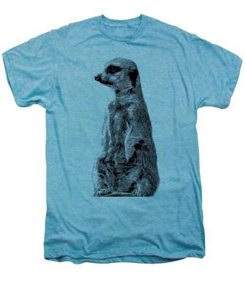 Meerkat Etching Men's Premium T-Shirt by Greg Noblin