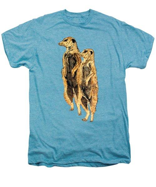 Meerkats Men's Premium T-Shirt by Teresa  Peterson