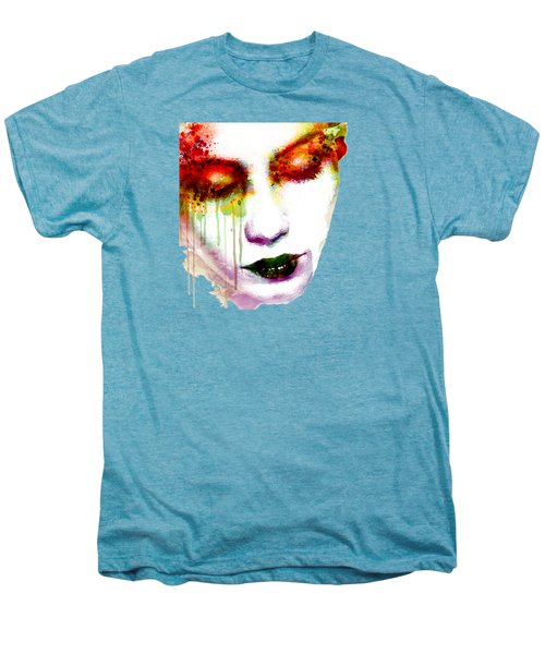 Melancholy In Watercolor Men's Premium T-Shirt by Marian Voicu