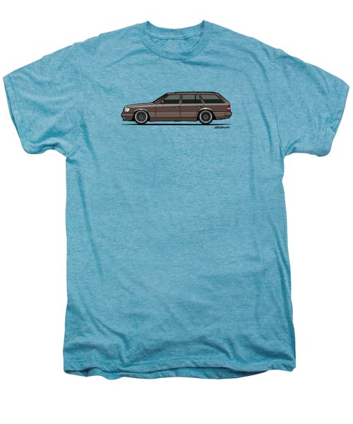 Mercedes Benz W124 E-class 300te Wagon - Anthracite Grey Men's Premium T-Shirt by Monkey Crisis On Mars