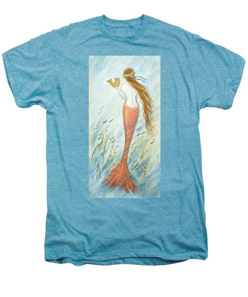 Mermaid And Her Catfish, Goldie Men's Premium T-Shirt