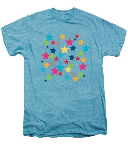 Messy Stars- Shirt Men's Premium T-Shirt by Linda Woods