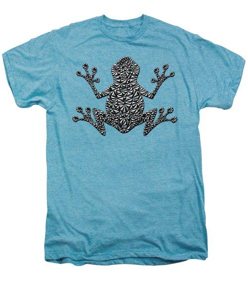 Metallic Frog Men's Premium T-Shirt by Chris Butler