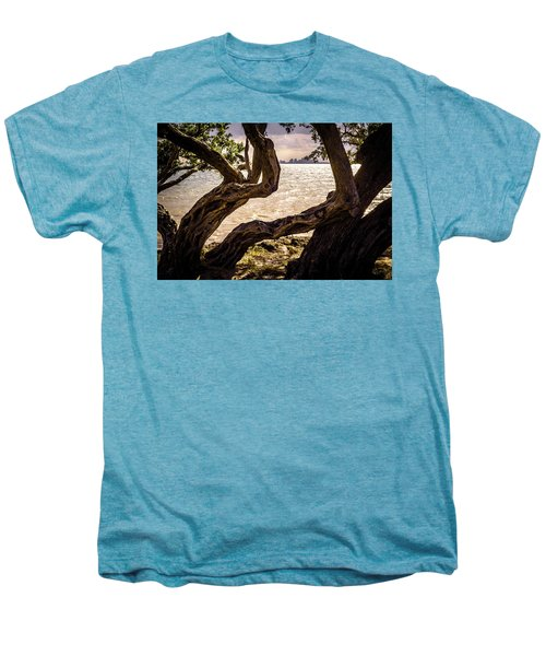 Miami At A Distance Men's Premium T-Shirt by Camille Lopez