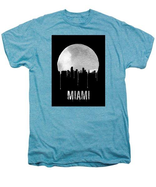 Miami Skyline Black Men's Premium T-Shirt by Naxart Studio