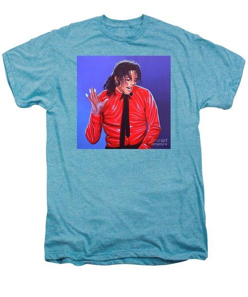 Michael Jackson 2 Men's Premium T-Shirt by Paul Meijering