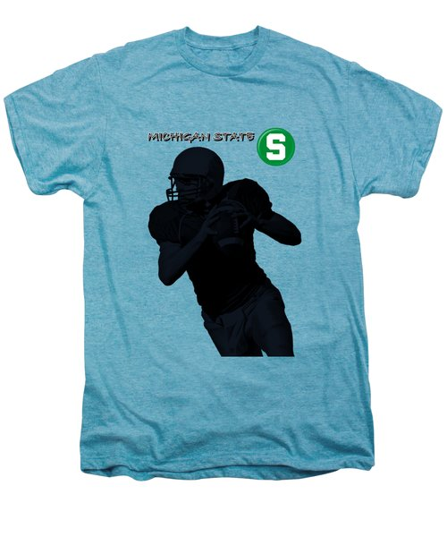 Michigan State Football Men's Premium T-Shirt by David Dehner