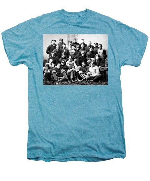 Michigan Wolverines Football Heritage  1895 Men's Premium T-Shirt by Daniel Hagerman
