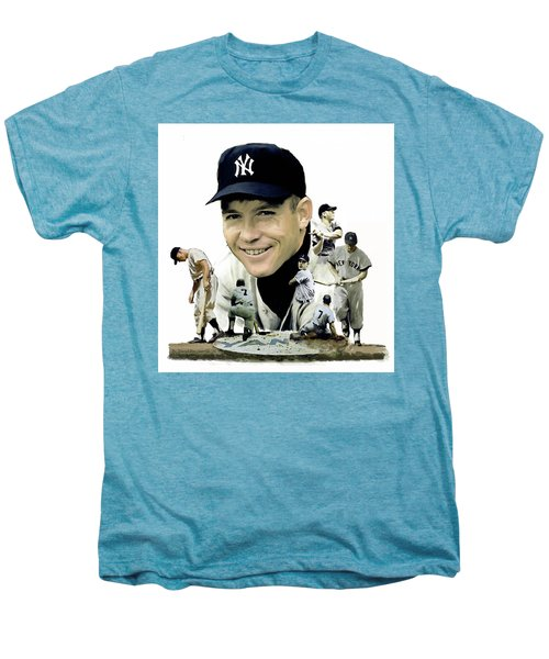 Mickey Mantle Legacy, II  Men's Premium T-Shirt by Iconic Images Art Gallery David Pucciarelli
