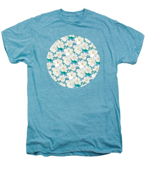 Mint Magnolias Men's Premium T-Shirt