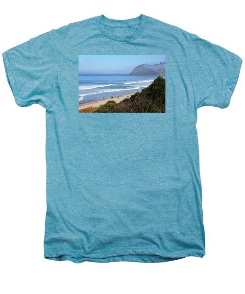 Misty Beach Morning Men's Premium T-Shirt