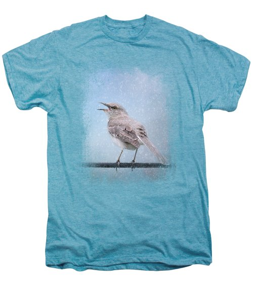 Mockingbird In The Snow Men's Premium T-Shirt by Jai Johnson
